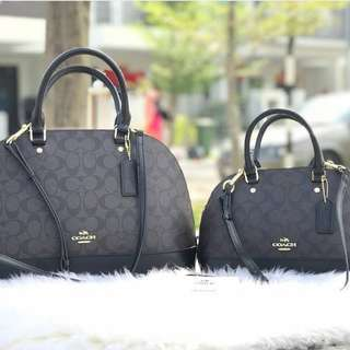 Coach Sierra Satchel In Signature - Black (F58295)