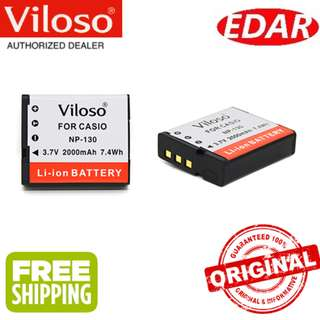 VILOSO NP-130 CASIO DIGITAL CAMERA BATTERY REPLACEMENT ««ORIGINAL & OFFICIAL VILOSO»»