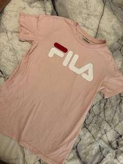 Pink Fila t-shirt