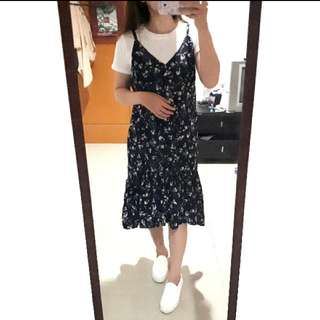 Floral Korean Dress (Outer Only)