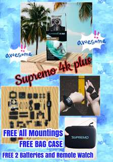 "Supremo4kplus Action Camera ""Brand new , Sealed and Original"" Order now!"
