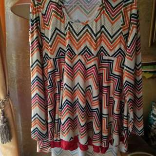Blouse pinguin tribal