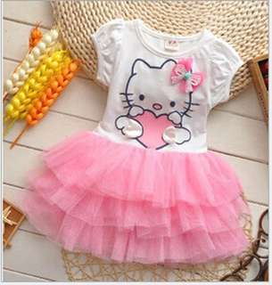 Cute Hello Kitty Girl Sleeve Dress