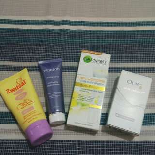 Moisturizer Products (body lotion, face lotion with spf, night cream, vit c super essence)