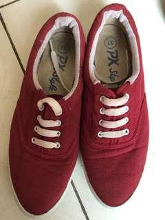 Sepatu keds PX Style Maroon