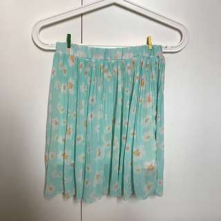SALE! Green Floral Skirt