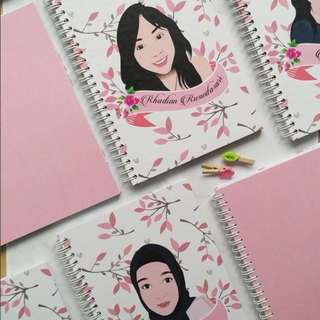 Personalized Hardcover Notebook with Caricature