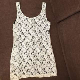 Laced sleeveless blouse