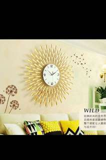 Large GOLD Crystal Studded Wall Clock