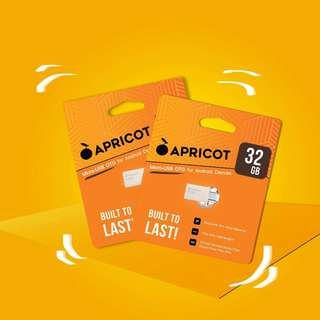 """Apricot micro-usb OTG External memory """"Perfect for storing movies pictures videos etc."""" Order now!"""
