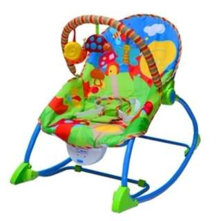 BABYFRACE Portable baby rocker chair with music