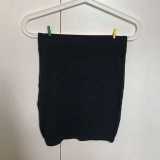SALE! Black Plain Fit Skirt