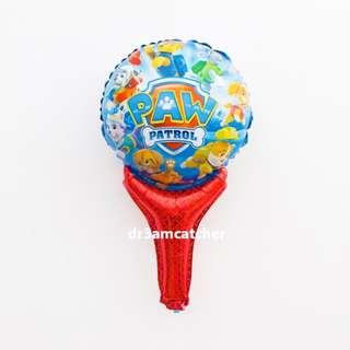 Paw Patrol handheld foil balloon