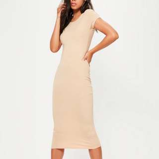 Missguided Nude Midi Dress Size 6