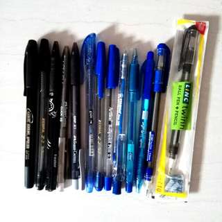 Black and blue pen