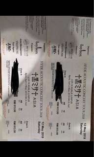 Hyde Acoustic Concert Tickets x2