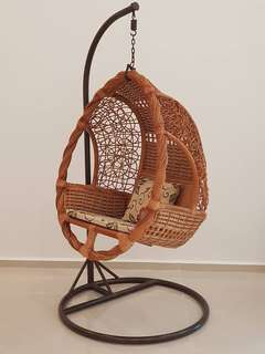 Balcony Rattan Woven Swing Chair