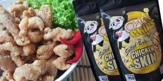 Chiken skin flavored salted egg