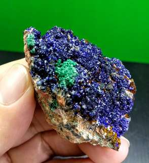 Brillant Blue Azurite Malchite Crystal on Matrix