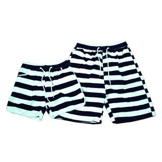 Fashion Casual Beach wear Couple shorts stripes (1pair) KB19