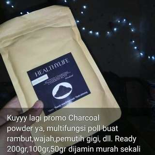 Charcoal active powder FREE ONGKIR
