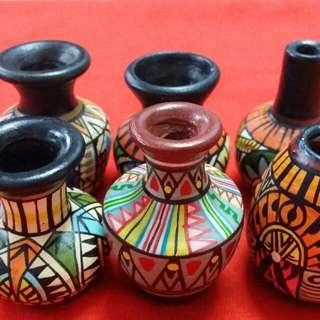 6 mini pots