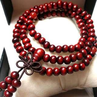 天然開光紅瑪瑙佛珠手鏈/頸鏈(可兩用)(避邪去煞、化解負面的磁場 Natural Open Onyx Bracelet/Necklace(can be dual-use) (evil to evil, to resolve the negative magnetic field