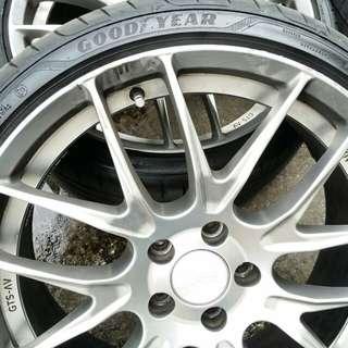 "19"" Breyton BE GTS-AV rims with tires"