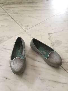Silver sparkly Crocs, C10