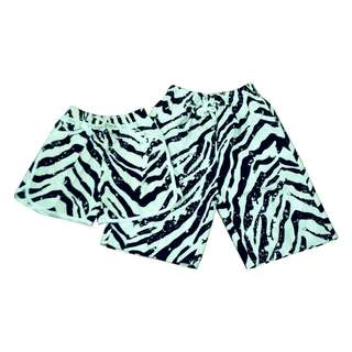 Fashion Casual Beach wear Couple shorts zebra (1pair) KB-20