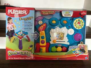 Brand new!! Playskool Rocktivity Sit To Stand Music Skool Toy