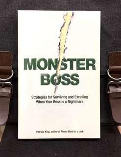 "《New Book Condition + How To Manage ""Monster"" Boss》Patricia King - MONSTER BOSS : Strategies for Surviving and Excelling When Your Boss is a Nightmare"