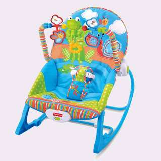 I-baby infant to toddler musical vibration rocking chair BLUE