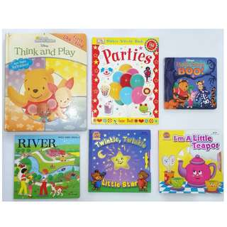 Lot of 10 children's books - board books & regular paper