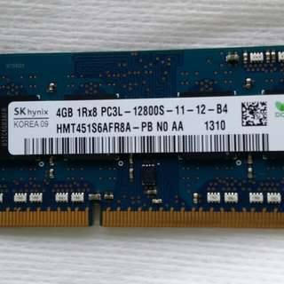 RAM DDR3 4GB laptop good condition no issue