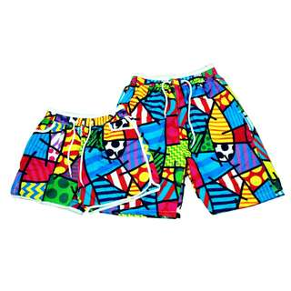 Fashion Casual Beach wear Couple shorts puzzle (1pair) KB-21