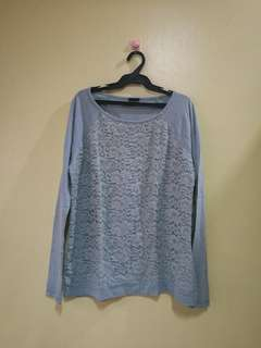 Cotton w/ lace Sweater