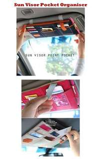 Car Sun Visor Pocket Organiser