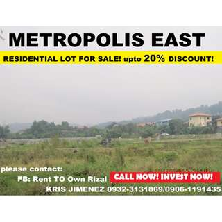 Metropolis East Executive village LOT FOR SALE! 2 yrs no interest 10K reservation fee only!