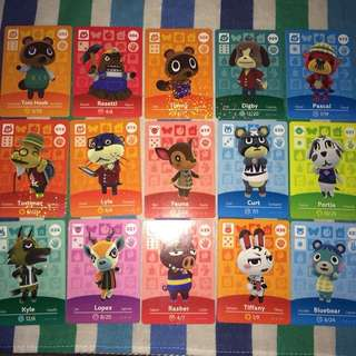 Animal Crossing Amiibo Cards Lot (86 cards total)