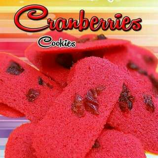 Biskut Lidah Kucing (Cranberries Cheese)