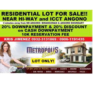 Metropolis east exe.village residential lot for sale LIMITED SLOT ONLY! RESERVE NOW!!