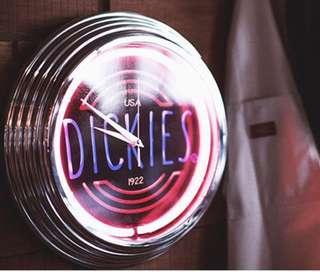 Dickies 美國日霓虹燈時鐘 pop