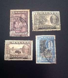 Malaya 1957-61 Kelantan def 4V (0343)