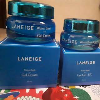 (NEW) LANEIGE WATERBANK GELL CREAM & WATERBANK EYE GEL_EX