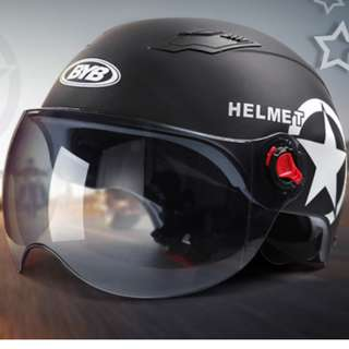 BYB ATV Go Kart Vespa Helmet (Matt Black)