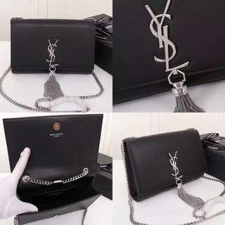 YSL Tassel bag in silver hardware