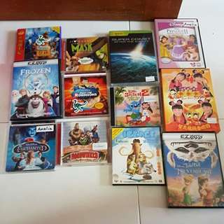 Various Kids Movie Titles