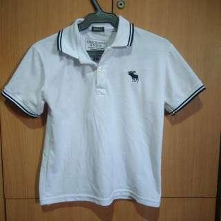 A&F White Polo Shirt for Kids