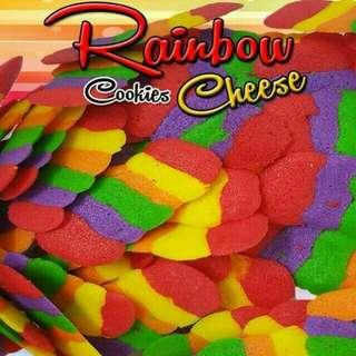 Biskut Lidah Kucing (Rainbow Cheese)